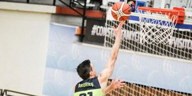 În victoria din deplasare cu CSM Mediaş, Alin Andrieş a făcut unul dintre cele mai bune meciuri ale sale la BC Athletic Constanţa